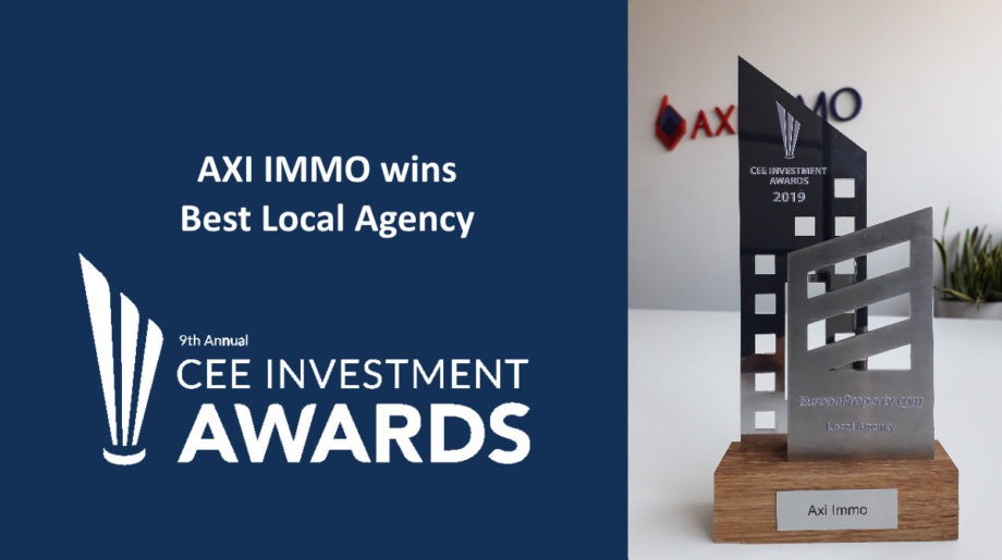 Tytuł Local Agency 2019 dla AXI IMMO w CEE Investment Awards